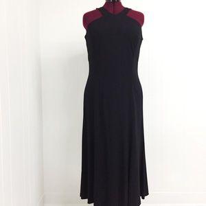 16 LAUREN by RALPH LAUREN Slinky Black Formal Gown